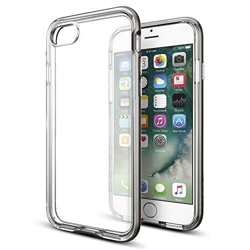 iPhone-7-Case-Spigen-Neo-Hybrid-Crystal-PREMIUM-BUMPER-Gunmetal-Clear-TPU-PC-Frame-Slim-Dual-Layer-Premium-Case-for-Apple-iPhone-7-2016-042CS20522
