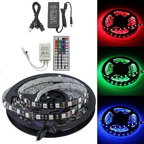 Mstar 5050-Rgb-Led-Strip 16.4Ft Smd Water-Resistant 300Leds Rgb Flexible Led Strip Light Lamp Kit For Wedding Christmas Party Holiday