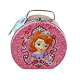 Disney Princess Sofia the First Semi-round Shaped Metal Tin Carrying Case - Lunch Box, Storage