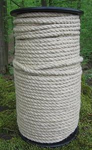 Hanfseil - Hanf-Seil Durchmesser 6 mm - 100 Meter auf Scheibenspule - 100% Naturhanf