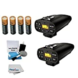 2 PocketWizard Plus IV Transceivers With General Brand AA 4 Pack Batteries + 5 Piece Cleaning Kit + Photo4less Cleaning Cloth