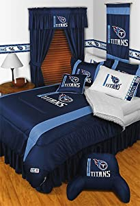 NFL Tennessee Titans Queen Bedding Set 5 Pc Comforter and Sheets by Store51