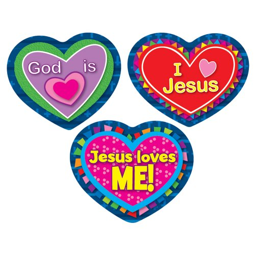 Carson Dellosa Jesus Loves Me! Shape Stickers (168080)