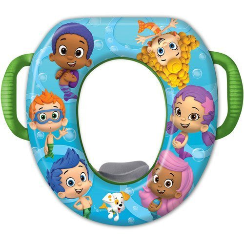 Nickelodeon Bubble Guppies Unisex Potty Training Seat Cover - With Bonus Potty Hook To Hang When Not In Use - Make Potty Training Fun with Oona, Gil, Molly, Deema, Nonny & Goby! NewBorn, Kid, Child, Childern, Infant, Baby