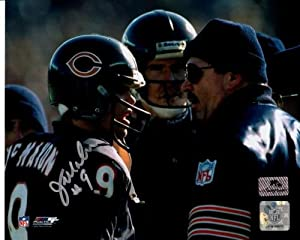 Jim McMahon Autographed Chicago Bears (with Mike Ditka) 8x10 Photo by PalmBeachAutographs.com