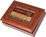 Cottage Garden Confirmation Ornate Woodgrain Music Box / Jewelry Box Plays Amazing Grace
