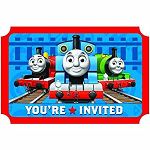Amscan Mens Thomas the Tank Invitations