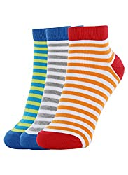 United colours of Benetton - Ankle Unisex Socks - Pack of 3 Strip 902