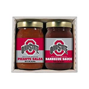 Ohio State Buckeyes Ncaa Double Play 16oz Bbq Sauce 16oz Picante Salsa from Hot Sauce Harry's