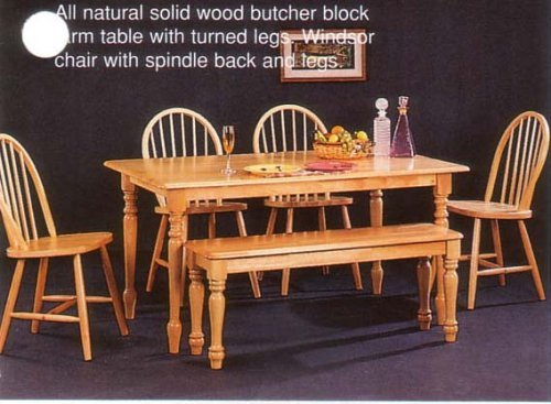 Sale New Butcher Block Farm Dining Table 4 Chairs Bench Lowest Rtualxx