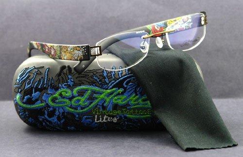 Ed Hardy EHL-806 Lite Designer Eyeglasses - Olive