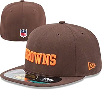 NFL Mens Cleveland Browns On Field 5950 Brown Game Cap By New Era by New Era