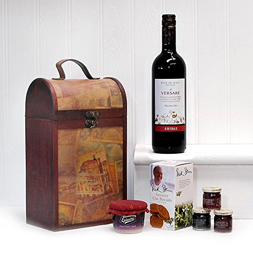 The Premium Clarendon Vintage Wooden Wine Chest with Versare Shiraz
