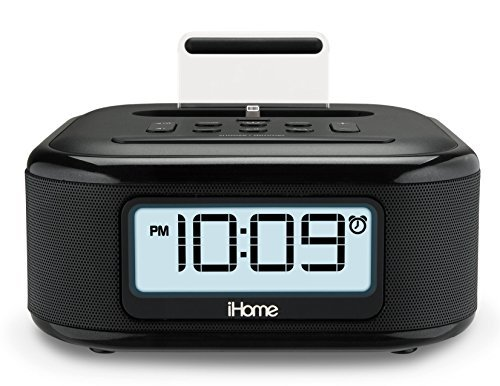iHome iPL23 Stereo FM Clock Radio with Lightning Dock Charge/Play for iPhone 5/5S 6/6Plus 6S/6SPlus