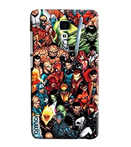 Omnam All Super Heros Painted Pattern Printed Designer Back Cover Case For Xiaomi Mi4