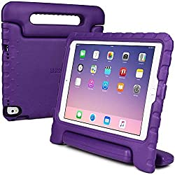 Cooper Cases(TM) Dynamo Kids Case for iPad Pro 9.7 in Purple + Free Screen Protector (Lightweight, Shock-Absorbing, Child-Safe EVA Foam, Built-in Handle and Viewing Stand)
