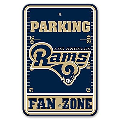 "NFL Los Angeles Rams Plastic Parking Sign, 12"" x 18"", Navy"