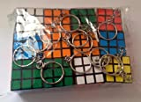 Adults/Childrens Rubiks Cube 3x3 Keychain Keyring X3