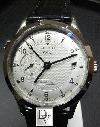 ZENITH CLASS ELITE DUAL TIME 2ND TIMEZONE WATCH