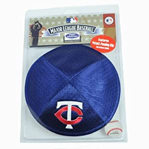 MLB Minnesota Twins Clip Pro Kippah Kipa Yamaka Jersey Mesh Licensed Yarmulke by Emblem Source