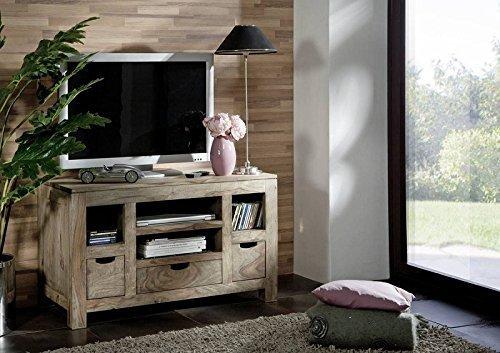 Sheesham Massivholz Lowboard Palisander Möbel Holz massiv Nature Grey #46 jetzt kaufen