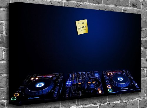 "Pioneer Dj Set Music Canvas Art Canvas Print Print Print Picture Size: (50"" X 36"")"