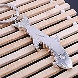 CaandShop(TM) Creative Shark Keychain Bottle Opener Metal Key Ring Beer Cap Lifter Modern H PL
