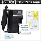 Battery And Charger Kit For Panasonic LUMIX DMC-SZ1, DMC-TS30, DMC-TS30K Digital Camera Includes Extended Replacement (900Mah) DMW-BCK7 Battery + Ac/Dc Rapid Travel Charger + MicroFiber Cloth + More