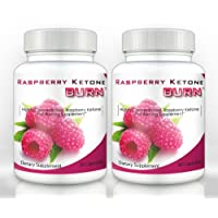 Raspberry Ketone Burn (2 Bottles) - Highly Concentrated Raspberry Ketones Fat Burning Formula. The New All Natural Weight Loss Supplement - 500mg (30 Capsules per Bottle)