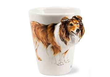 Tasse caf colley colley poils longs faite for A poil a la maison