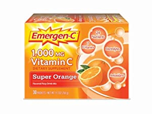 Emergen-C Super Orange, Net Wt. 9.3 Oz, 30-count, 1000MG