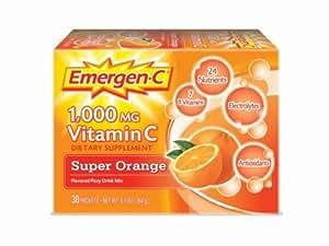Alacer Alacer, Emergen-C, 1,000 mg Vitamin C, Super Orange, 30 Packets, 8.8 g Each - 30 Packet