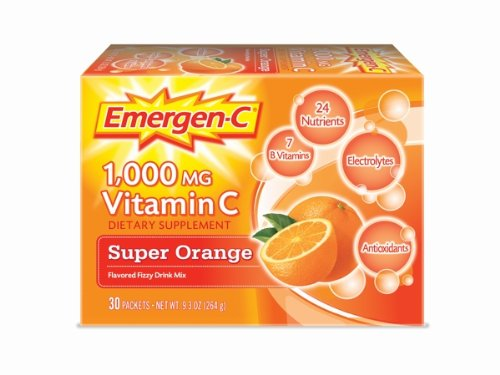 Emergen-C Super Orange, 1000 mg de vitamine C,