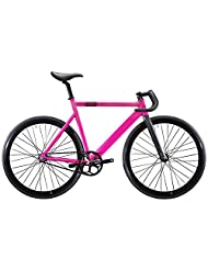 State Bicycle 6061 Black Label Fixed Gear Bike - Hot Pink, 52 cm