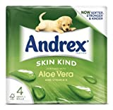 Andrex 4 Roll Aloe Vera Skin Kind 160 Sheet Count (Pack of 10)
