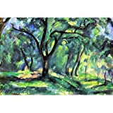 Paul Cezanne In the Woods Art Print Poster - 24x36 custom fit with RichAndFramous Black 36 inch Poster Hangers
