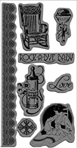 Hampton Art Graphic 45 Little Darlings Style#3 Cling Stamps