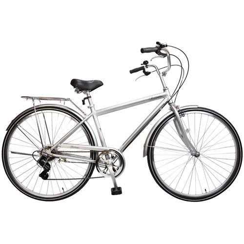 Alton 7-Speed Men's Roadman Cruiser Bike (Silver)