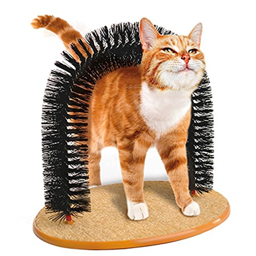 【 自分でスリスリ 毛づくろいアーチ 】 簡単 グルーミング アーチ ブラシ 愛 猫 用 取り外し 可能 毛づくろい お手入れ 処理 SD-CATGROOARCH