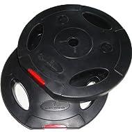 Get Body Power 10Kg Tri Grip VINYL Standard Weight Disc Plates (x2) Price-image