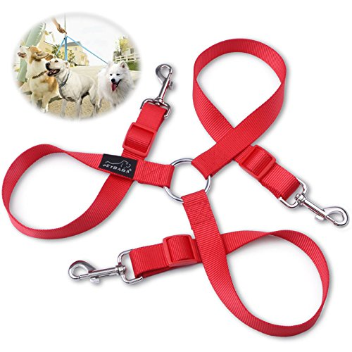 3-dog-lead-coupler-petbaba-30-50cm-1-16ft-long-adjustable-nylon-training-lead-for-3-dogs-red-m