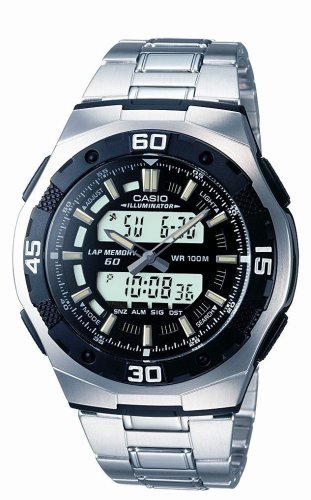Casio AQ-164WD-1AVES Mens Bracelet Combi Watch