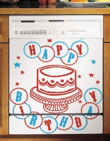 Grip Promotions 10967 Star Spangled Brithday Appliance Art- Small