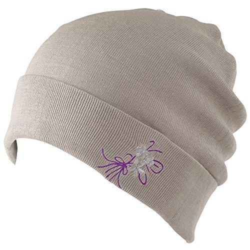 なめらかシルクのニット帽 グレー