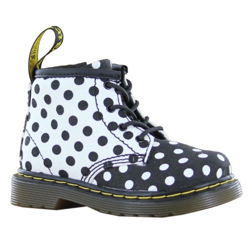 Dr.Martens Broklee Black White Toddlers Boots Size 6 Us front-602992