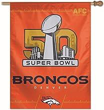 Denver AFC Champs Super Bowl 50 Flag and Banner