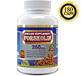Pure Forskolin Extract 250mg - 180 Capsules - Premium Quality - Great Value Size, High Potency Forskolin for Weight Loss. Maximum Strength Diet Supplements, Weight Loss Quick with the Best Forskolin Belly Buster, For a Healthier You Starting Today.