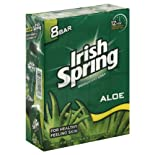 Irish Spring Deodorant Soap, Aloe, Value Pack, 8 ct.