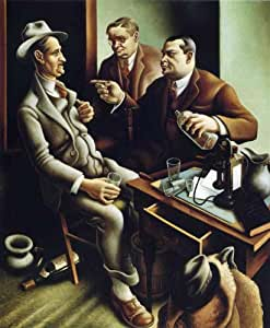 Oil painting on stretched canvas - 15 x 18 inches / 38 x 46 CM - Thomas Hart Benton - Preparing the Bill