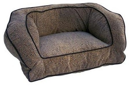 Snoozer Contemporary Pet Sofa, Large, Shona Granite/Dk Chocolate